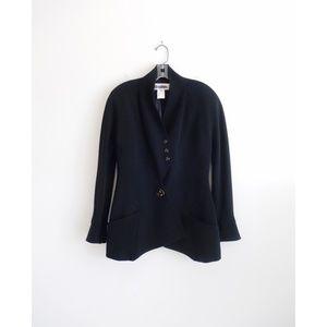 Vintage 80s Karl Lagerfeld Black Blazer est. 6